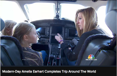 Amelia Rose Earhart on the NBC Nightly News