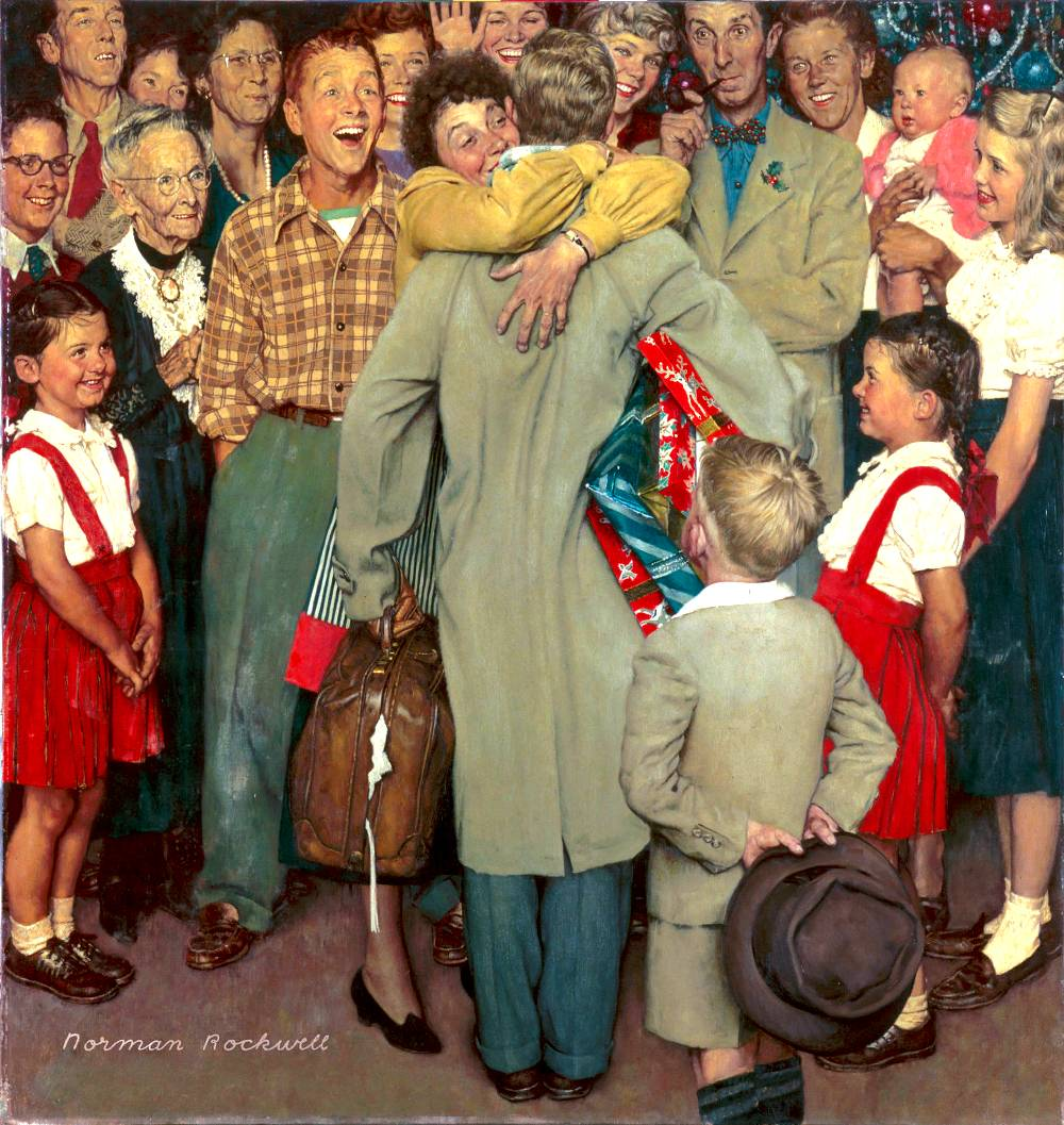 NORMAN ROCKWELL Christmas Homecoming 1948 | Eagles Talent Speakers ...