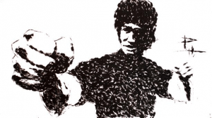 Artwork of Bruce Lee.