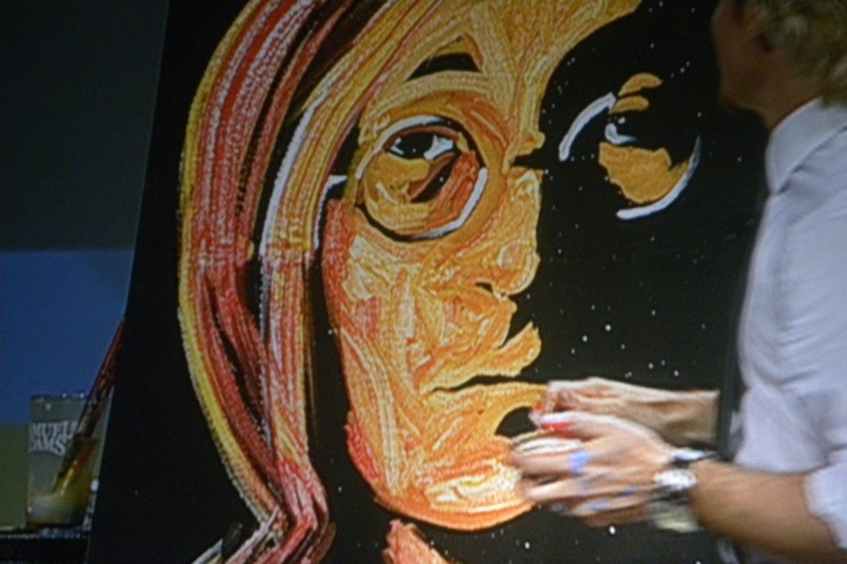 Eric Wahl doing a picture of John Lennon