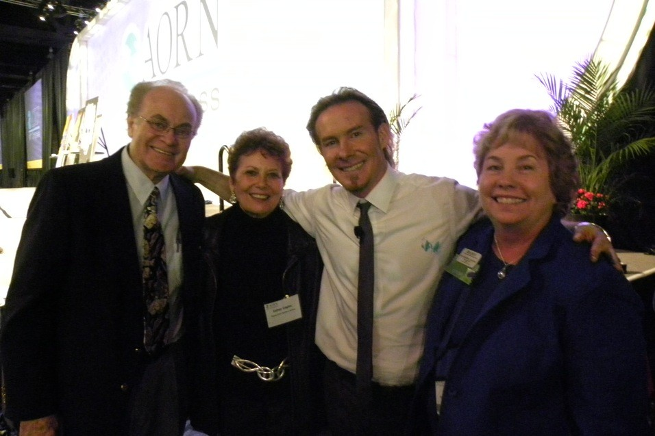 Erik Wahl with Gil and Esther Eagles, and Susan Bakewell