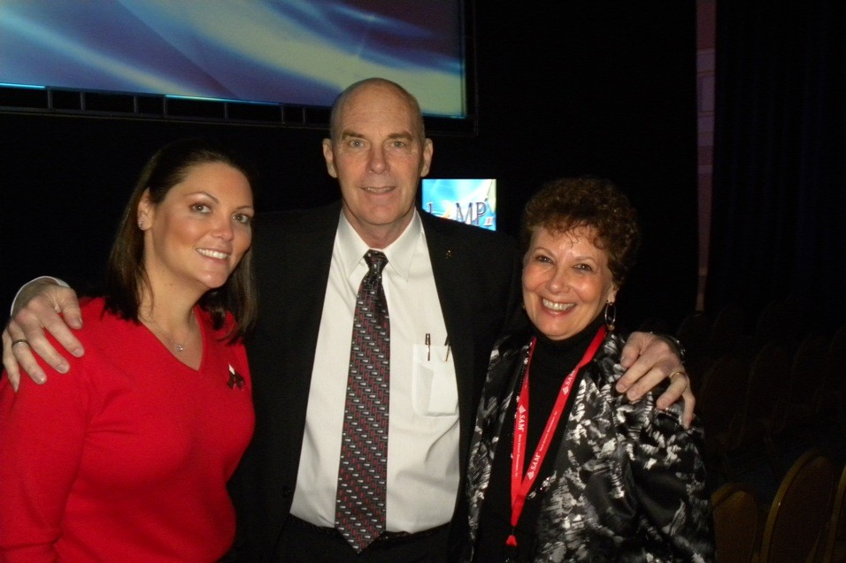 Legendary Coach Don Meyer with Esther Eagles and Bonnie L. Godsman, Sr. Director of Meetings & PMG Corporate Relations