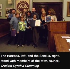 Krysta Senek being honored by West Orange Mayor