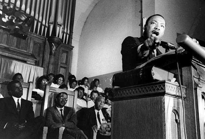 Dr. Martin Luther King Jr. Speaking in a Church