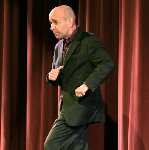 Steve Rizzo keynote presentation provides humor.