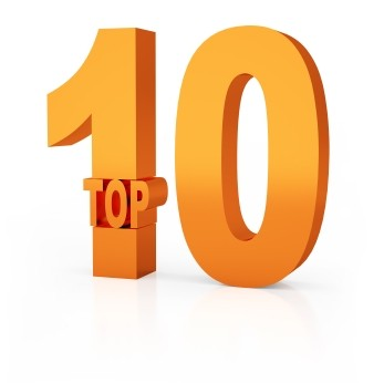 Top 10 winner 3d orange symbol isolated