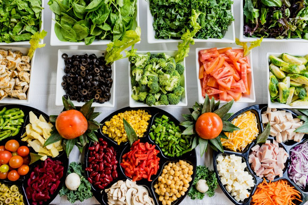 vegetables spread - healthy eating - weight loss
